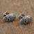 Sterling silver cufflinks, 'Calavera Style' - Sterling Silver Skull Cufflinks from Mexico (image 2b) thumbail