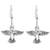 Sterling silver dangle earrings, 'Hummingbirds Aloft' - Sterling Silver Hummingbird Dangle Earrings from Mexico (image 2a) thumbail
