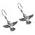Sterling silver dangle earrings, 'Hummingbirds Aloft' - Sterling Silver Hummingbird Dangle Earrings from Mexico (image 2c) thumbail