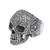 Sterling silver dome ring, 'Skull of Life' - Sterling Silver Skull Ring from Mexico (image 2d) thumbail