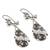 Cultured pearl dangle earrings, 'Pearls in the Wind' - Cultured Pearl and Sterling Silver Teardrop Dangle Earrings (image 2c) thumbail