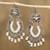 Cultured pearl chandelier earrings, 'Ballroom Splendor' - Cultured Pearl Sterling Silver Scroll Chandelier Earrings thumbail