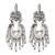 Cultured pearl chandelier earrings, 'Ballroom Splendor' - Cultured Pearl Sterling Silver Scroll Chandelier Earrings (image 2a) thumbail