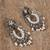 Cultured pearl chandelier earrings, 'Ballroom Splendor' - Cultured Pearl Sterling Silver Scroll Chandelier Earrings (image 2b) thumbail