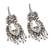 Cultured pearl chandelier earrings, 'Ballroom Splendor' - Cultured Pearl Sterling Silver Scroll Chandelier Earrings (image 2c) thumbail