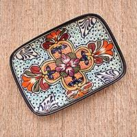 Featured review for Ceramic serving plate, Radiant Flowers