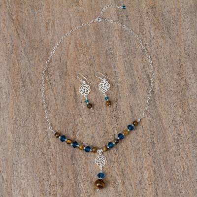 Tigers eye jewelry set, Two Homes
