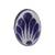 Ceramic cocktail ring, 'Tradition Bouquet' - Talavera-Style Blue and White Oval Ceramic Ring (image 2c) thumbail