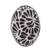 Ceramic cocktail ring, 'Raven Bouquet' - Talavera-Style Black and White Oval Ceramic Cocktail Ring (image 2a) thumbail