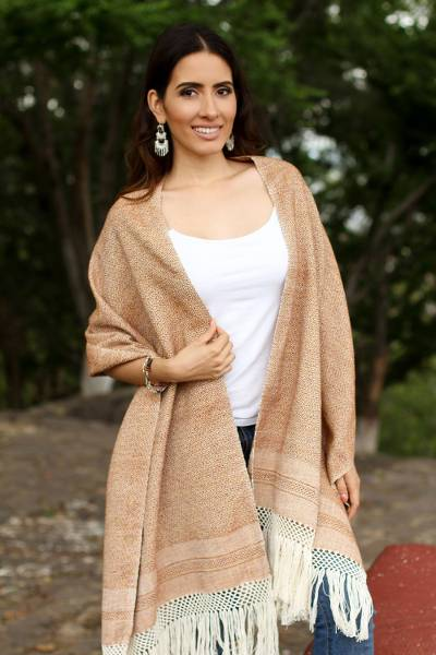 Cotton rebozo, Earth Hues