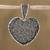 Sterling silver filigree pendant, 'My Deep Heart' - Heart-Shaped Sterling Silver Filigree Pendant from Mexico thumbail