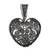 Sterling silver filigree pendant, 'My Deep Heart' - Heart-Shaped Sterling Silver Filigree Pendant from Mexico (image 2a) thumbail