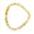 Amber beaded stretch bracelet, 'Gleaming Sun' - Handcrafted Amber Beaded Stretch Bracelet from Mexico (image 2a) thumbail
