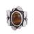 Tiger's eye single stone ring, 'Dramatic Beauty' - Tiger's Eye and Sterling Silver Single Stone Ring (image 2a) thumbail
