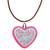 Ceramic pendant necklace, 'Passionate Heart' - Hand-Painted Ceramic Heart Necklace from Mexico (image 2a) thumbail