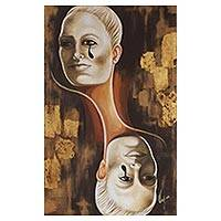 'Duality' (2008) - Surrealist Painting of Two Faces (2008) from Mexico