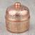 Copper decorative box, 'Glimmering Grace' - Hand Crafted Silver Accent Copper Decorative Box from Mexico (image 2c) thumbail