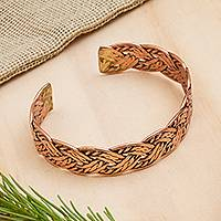 Featured review for Copper cuff bracelet, Brilliant Weave