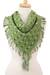Cotton scarf, 'Mexican Spring' - Cotton Scarf in Spring Green and Eucalyptus from Mexico (image 2a) thumbail