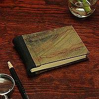 Recycled paper journal, 'Autumn Delicacy' - Recycled Paper Journal with Autumn Colors from Mexico