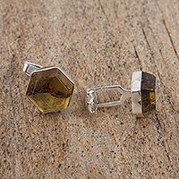 Amber cufflinks,