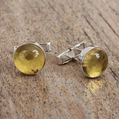 Amber cufflinks, Golden Pools