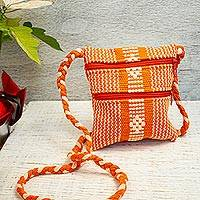Cotton sling, 'Beautiful Flame' - Handwoven Cotton Sling in Flame from Mexico