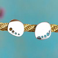 Silver stud earrings,