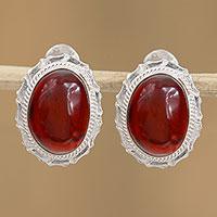 Amber drop earrings, 'Nostalgic Reflections' (Mexico)