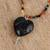 Chalcedony and ceramic beaded pendant necklace, 'Delicacies of My Country' - Chalcedony and Ceramic Beaded Pendant Necklace from Mexico (image 2b) thumbail