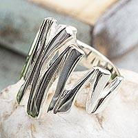 Sterling silver cocktail ring, 'Light of the Soul' - Modern Taxco Sterling Silver Cocktail Ring from Mexico