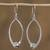 Sterling silver dangle earrings, 'Modern Perfection' - Modern Taxco Sterling Silver Dangle Earrings from Mexico (image 2b) thumbail