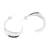 Sterling silver half-hoop earrings, 'Gleaming Perfection' - Modern Taxco Sterling Silver Half-Hoop Earrings from Mexico (image 2c) thumbail