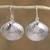 Sterling silver dangle earrings, 'Mediterranean Shells' - Taxco Sterling Silver Seashell Dangle Earrings from Mexico thumbail