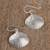 Sterling silver dangle earrings, 'Mediterranean Shells' - Taxco Sterling Silver Seashell Dangle Earrings from Mexico (image 2b) thumbail