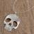 Sterling silver pendant necklace, 'Complex Skull' - Taxco Sterling Silver Skull Pendant Necklace from Mexico (image 2b) thumbail