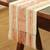 Cotton table runner, 'Salmon Geometry' - Cotton Table Runner in Salmon and Alabaster from Mexico thumbail