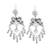Sterling silver chandelier earrings, 'Amorous Delight' - Heart-Shaped Taxco Sterling Silver Chandelier Earrings (image 2a) thumbail