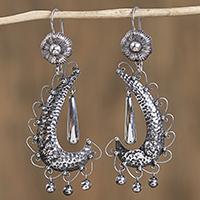 Sterling silver chandelier earrings,