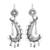 Sterling silver dangle earrings, 'Rain of Paradise' - Taxco Sterling Silver Dangle Earrings from Mexico (image 2a) thumbail