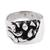 Men's sterling silver ring, 'Crevices' - Men's Handcrafted Sterling Silver Abstract Cocktail Ring (image 2a) thumbail