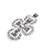 Sterling silver filigree pendant, 'Dark Taxco Cross' - Sterling Silver Filigree Cross Pendant from Mexico (image 2b) thumbail