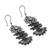 Sterling silver and cultured pearl filigree dangle earrings, 'Raining Petals' - Floral Sterling Silver Filigree Dangle Earrings from Mexico (image 2c) thumbail