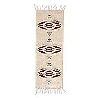 Zapotec wool area rug, 'Beautiful Geometry' (1x3) - Handwoven Wool Zapotec Rug with Geometric Motifs (1x3)