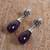 Amethyst dangle earrings, 'Lovely Nectar' - Floral Amethyst Dangle Earrings from Mexico (image 2b) thumbail