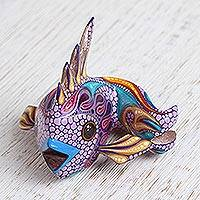 Featured review for Wood alebrije figurine, Bright Fish