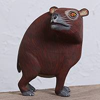 Wood alebrije sculpture, 'Capybara' - Handcrafted Wood Alebrije Capybara Sculpture from Mexico