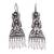 Cultured pearl filigree chandelier earrings, 'Artisanal Symmetry' - Cultured Pearl Filigree Chandelier Earrings from Mexico (image 2a) thumbail