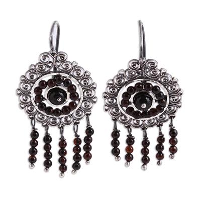 Sterling Silver Filigree Waterfall Earrings