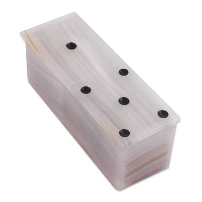 Ivory Onyx Domino Set from Mexico